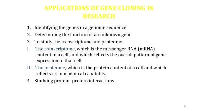 application of cloning vector