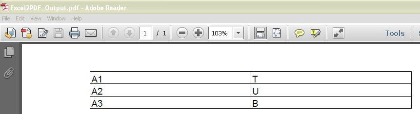 convert excel to pdf using itext in java