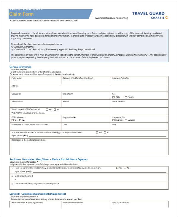 aig claim form pdf