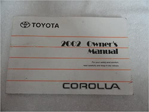 2002 corolla owners manual