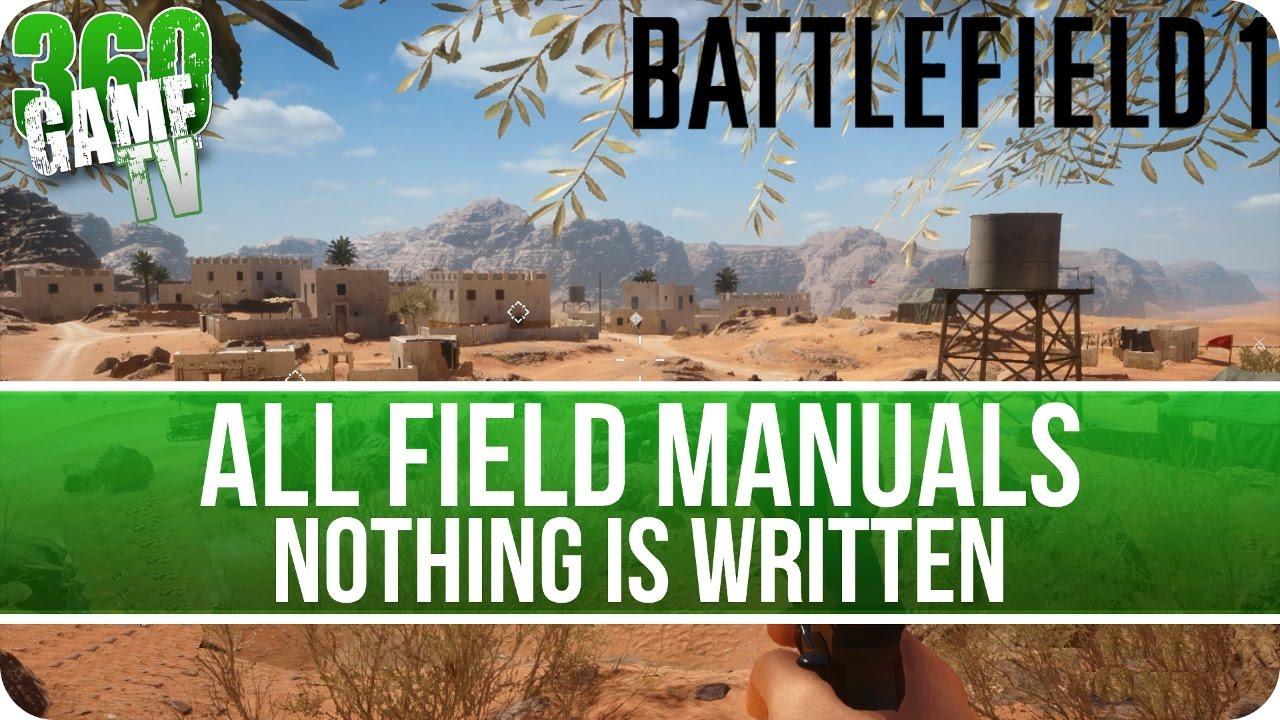 battlefield 1 nothing is written field manual locations