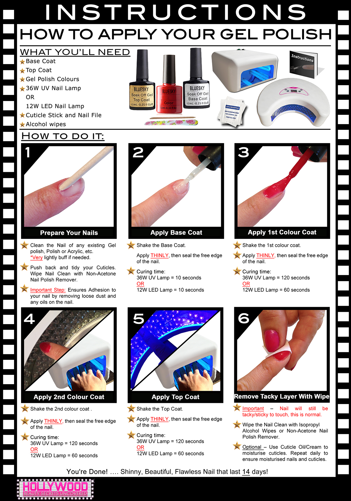 beauty secrets acrylic nail instructions