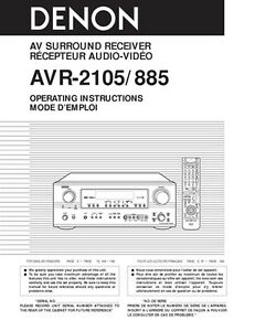 denon avr 3805 manual