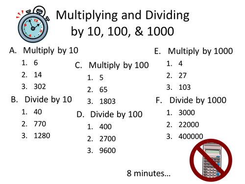 dividing by 10 100 and 1000 worksheet pdf