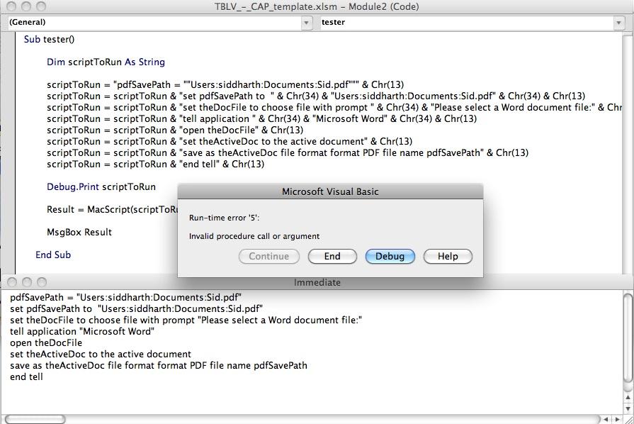 applescript save as pdf