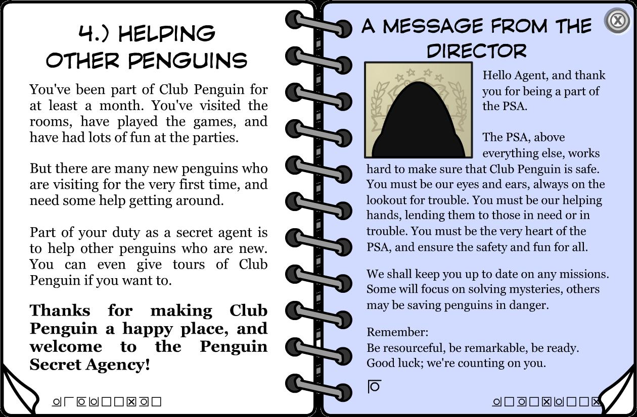 club penguin secret agent handbook codes
