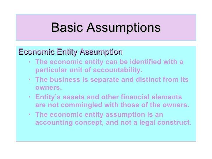 basic assumptions of economics pdf