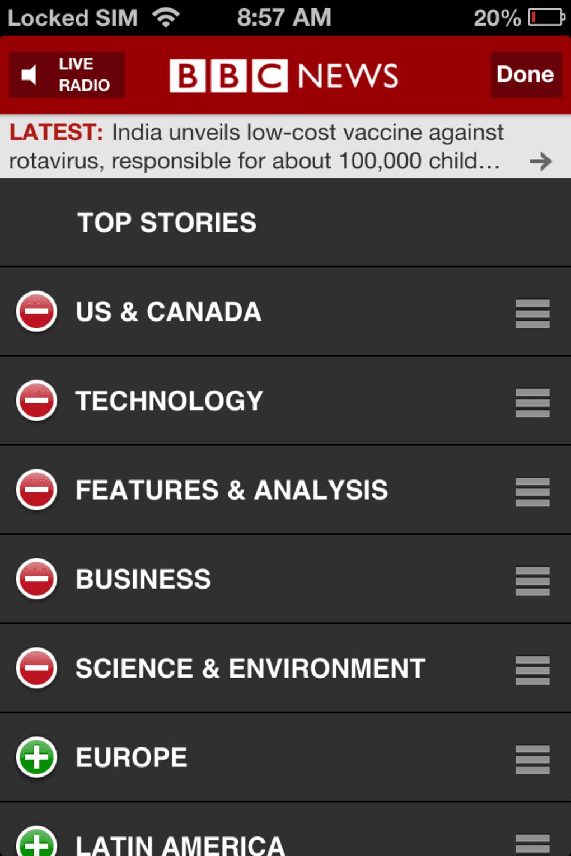 bbc application status