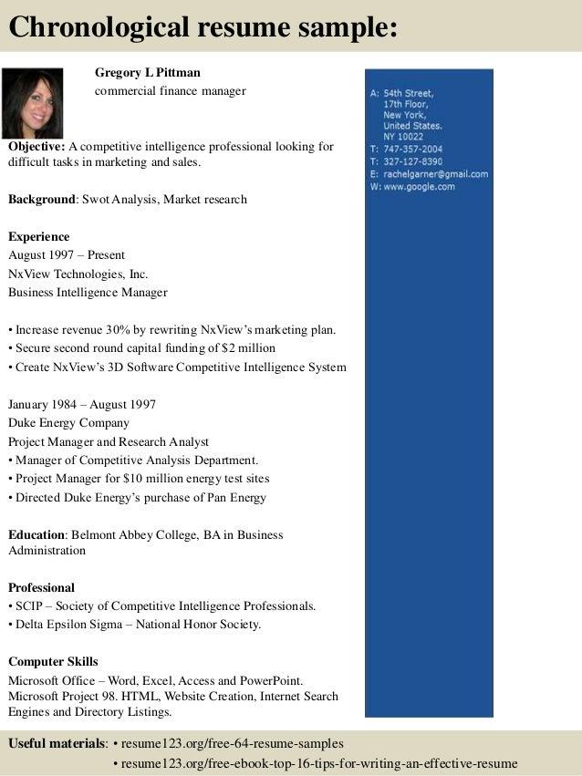 company resume sample format