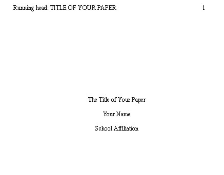 apa sample title page 2018