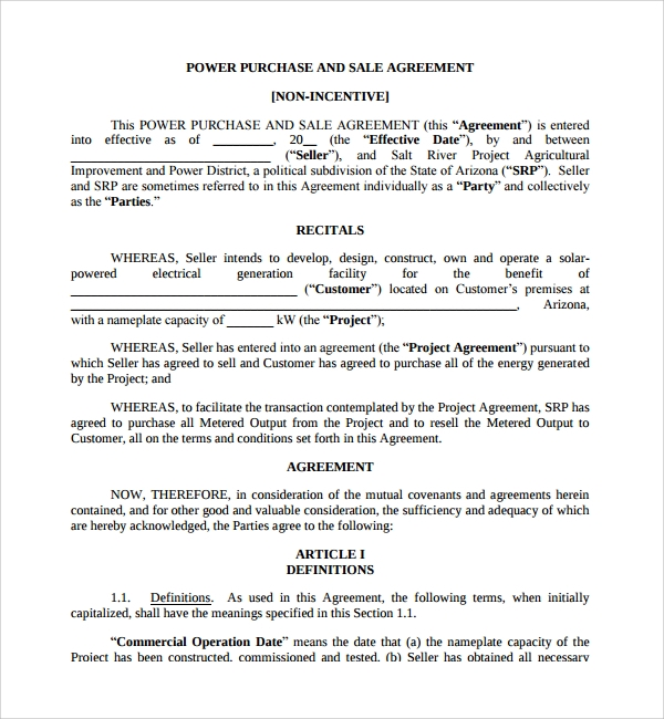 business sale agreement pdf
