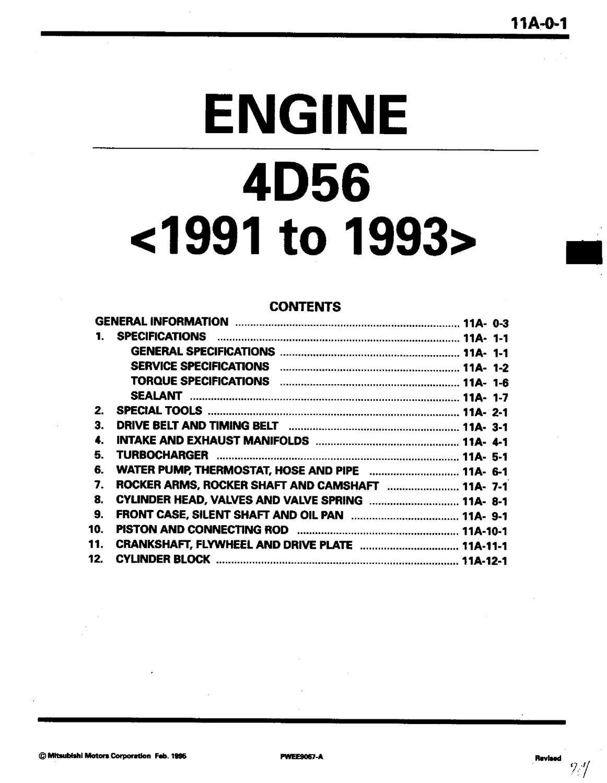 4d56 engine manual