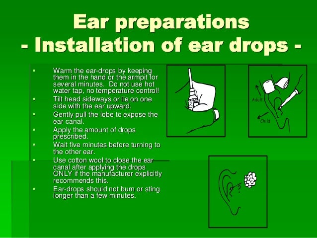 application of ointment in ear procedure