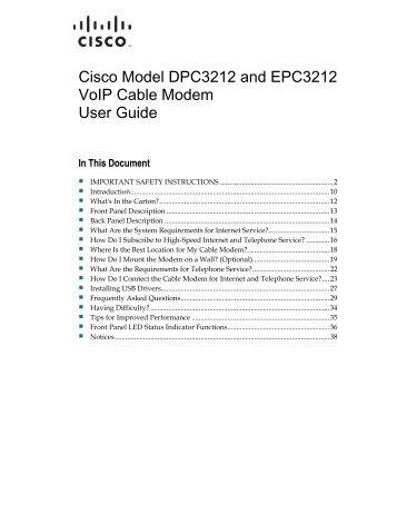 cisco dpc3010 manual