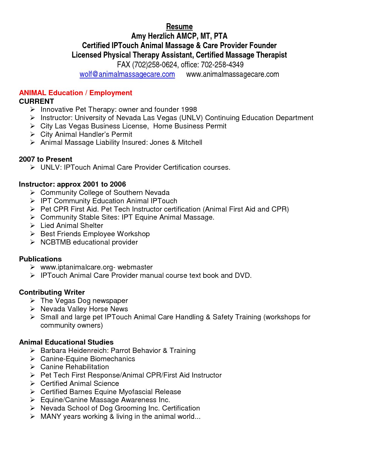 diversional therapist resume sample