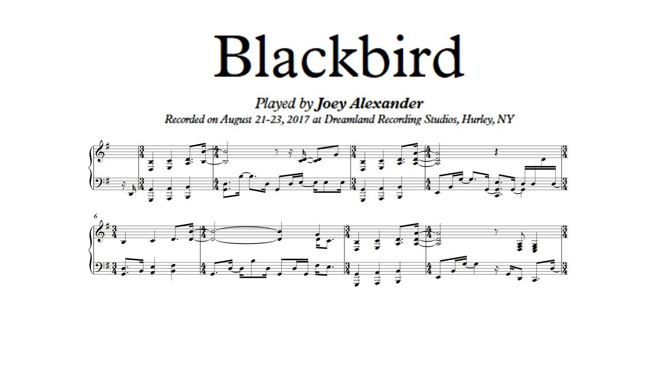blackbird pdf piano
