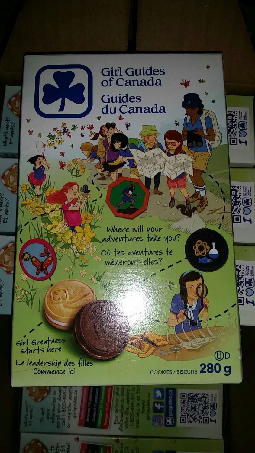 chocolate girl guide cookies nz