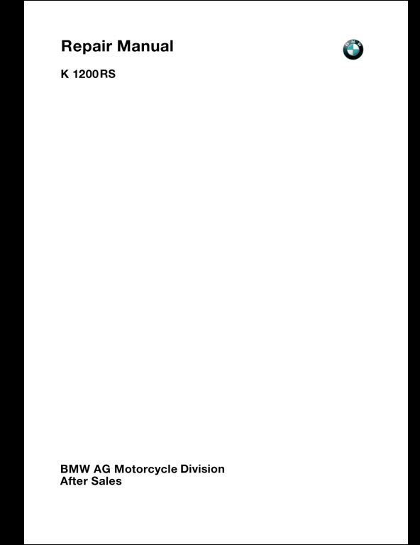 bmw k1200rs service manual