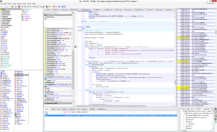 c documentation list in ide