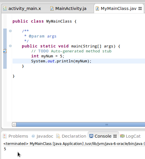 application java android