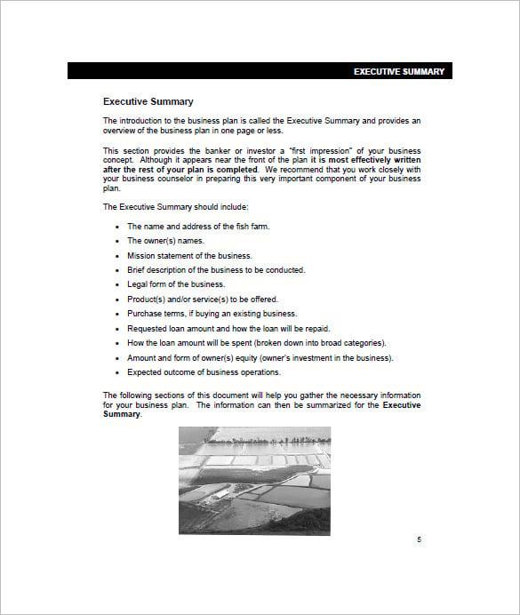 agricultural business plan sample pdf