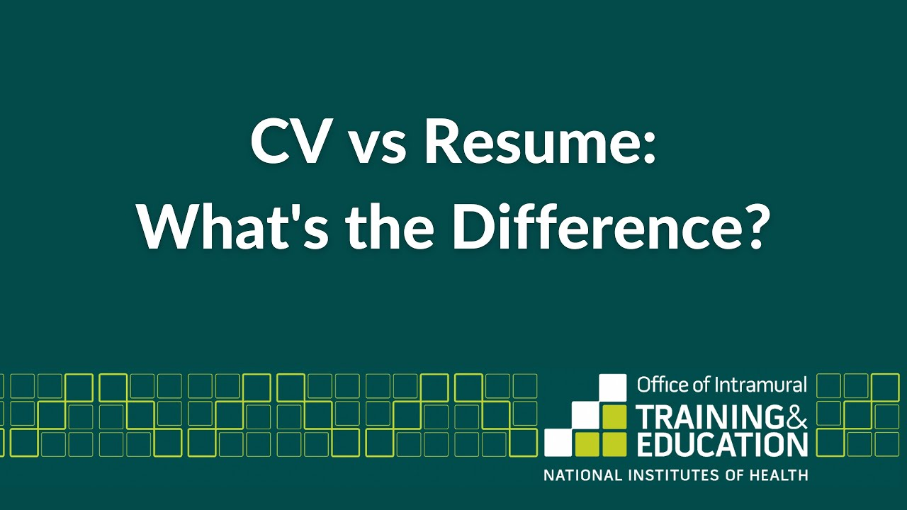 curriculum vitae vs resume sample