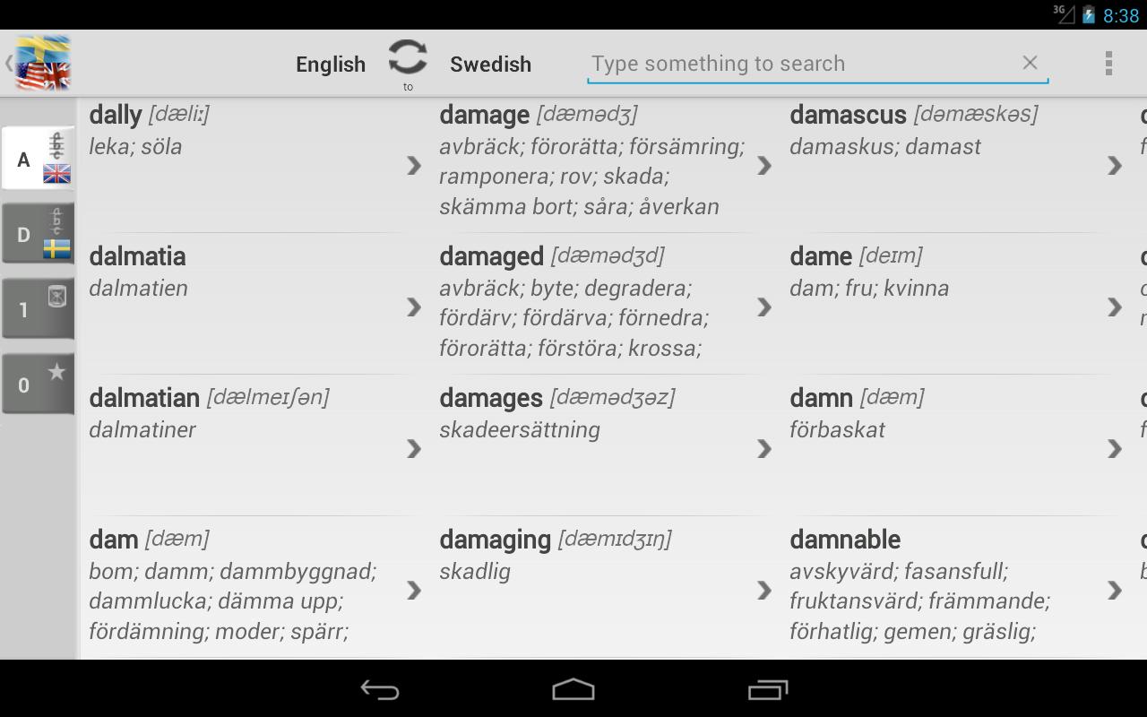 bab la dictionary swedish english