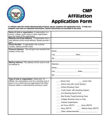 affiliation meaning in application form
