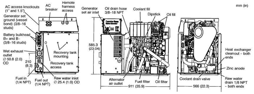 cummins onan marine generator service manual