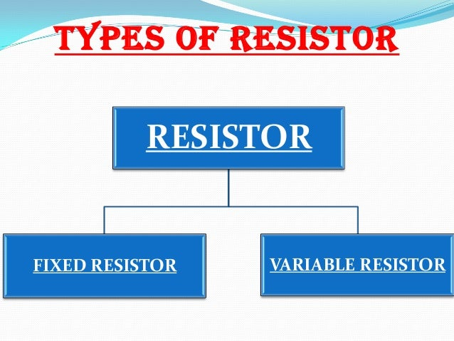 application of resistor