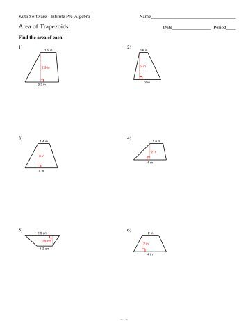 area of a kite worksheet pdf