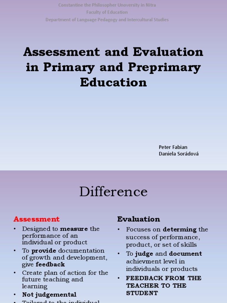 assessment and evaluation book pdf