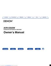 avr-x1300 manual