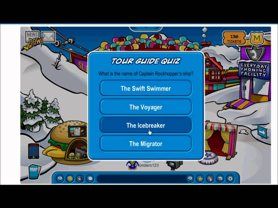 club penguin tour guide answers