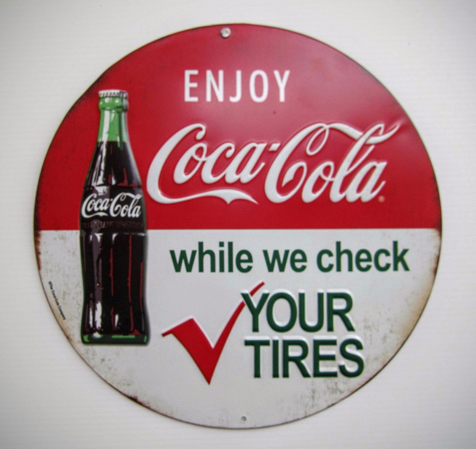 coca cola sign price guide