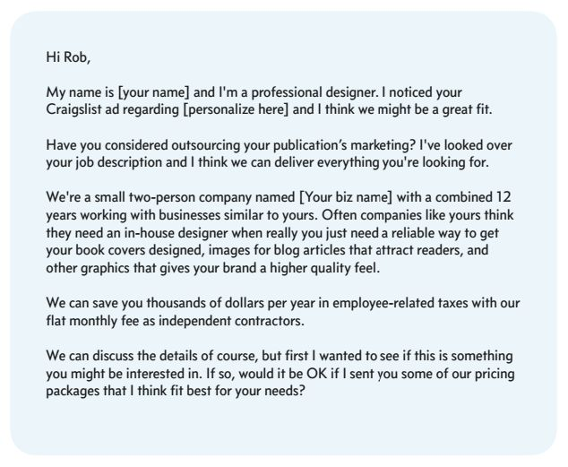 cold calling sample cover letter