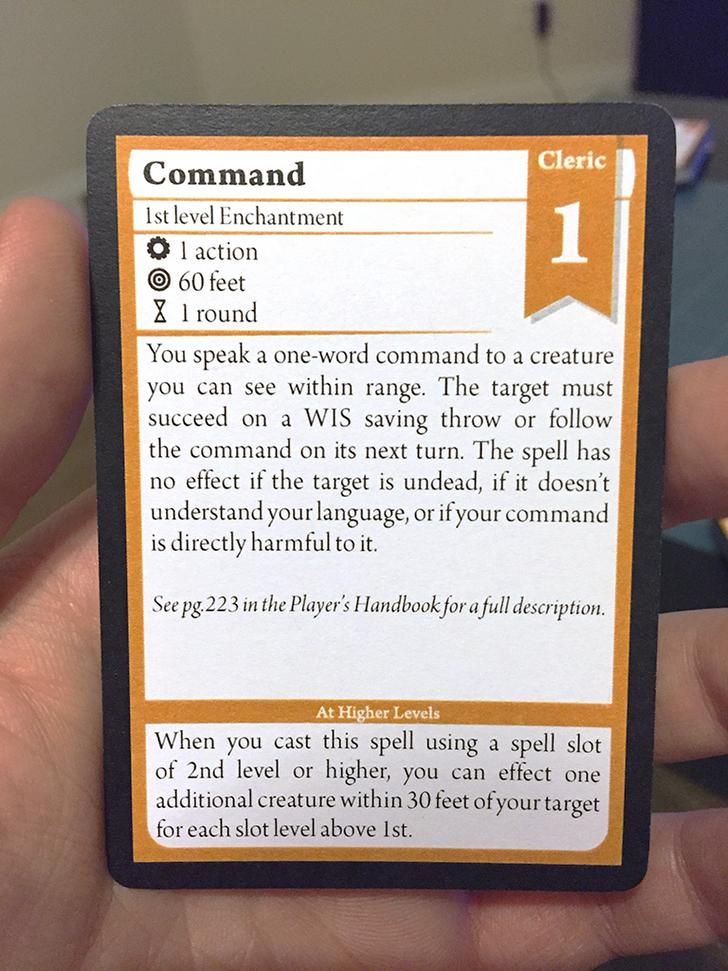 dnd 5e cleric spell cards pdf