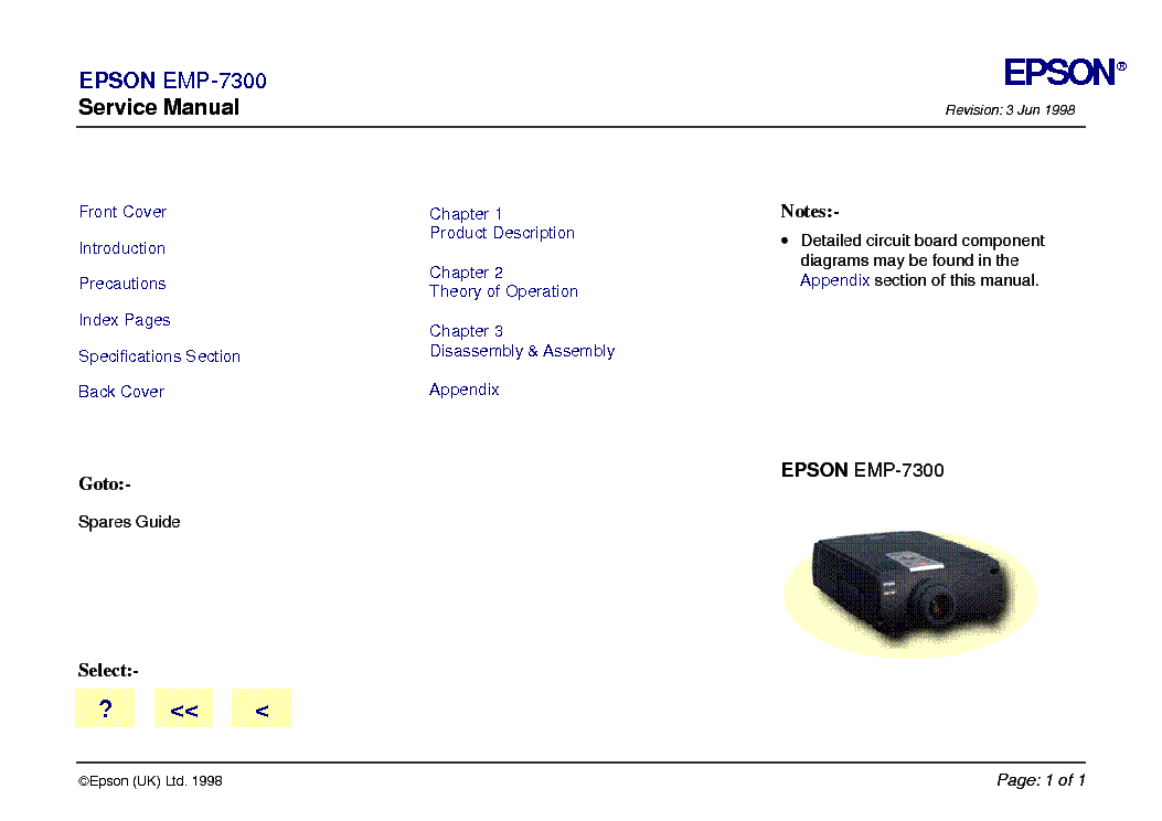 download manual for epson wireless projector