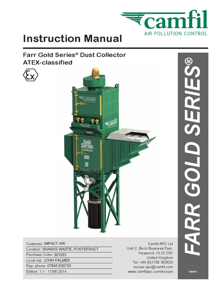dust collector manual pdf