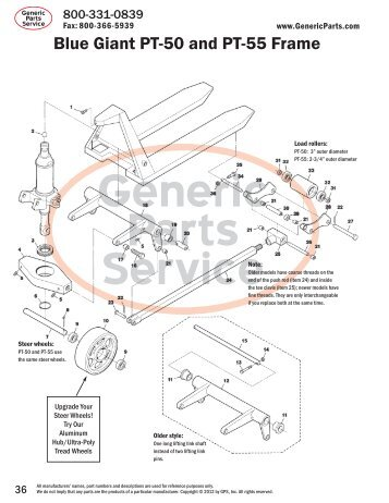 blue giant parts manual