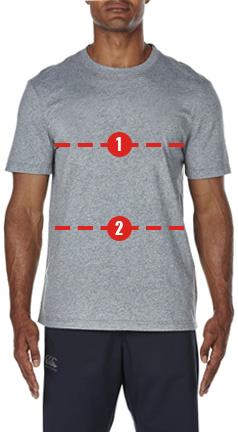 canterbury shirt size guide