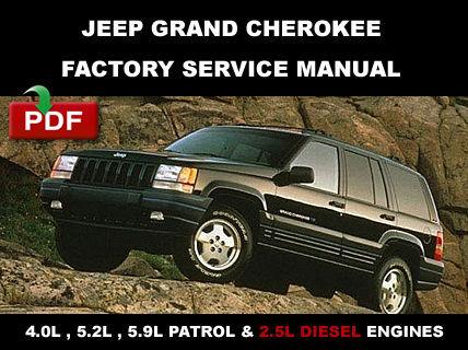 1998 jeep grand cherokee factory service manual pdf