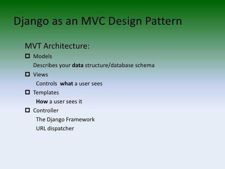 django application overview