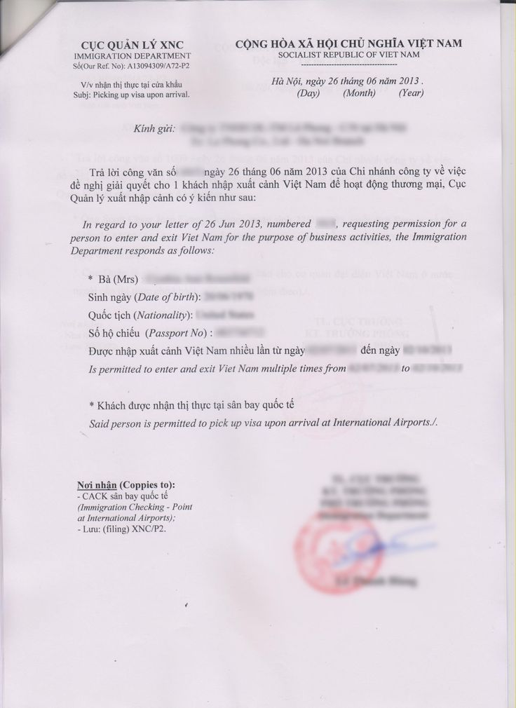 authorization letter to submit visa application