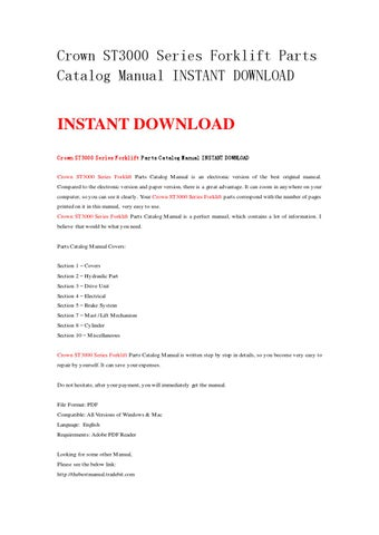 crown wp3035 45 service manual